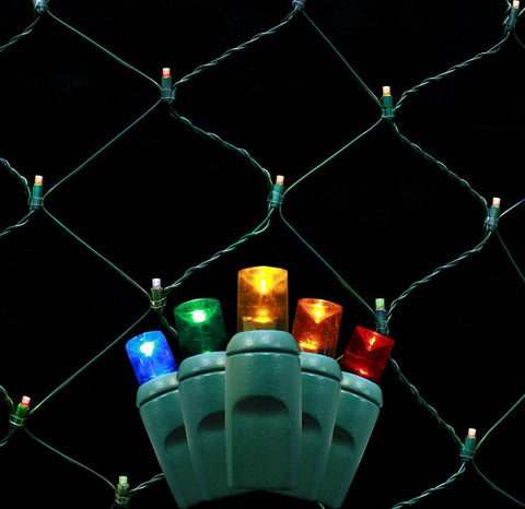 Seasonal Source - LEDNET-MUL - LED Net Lighting, Multicolored, 4 ft x 6 ft LED - Seasonal Source