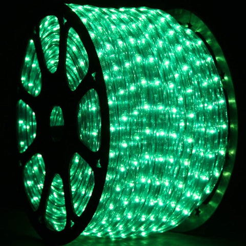 LED Rope Light, Green, 1/2 Inch, 150 ft - Seasonal Source