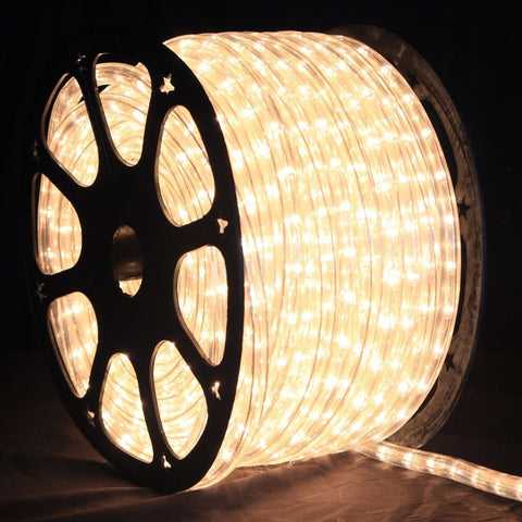 LED Rope Light, Warm White, 1/2 Inch, 150 ft - Seasonal Source