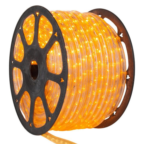 LED Yellow Rope Light, 1/2 inch, 150 ft - Seasonal Source