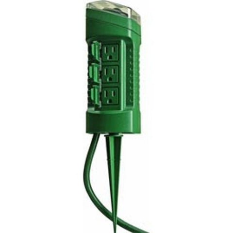 Outdoor Timer with Photocell, 6 Outlet - Seasonal Source