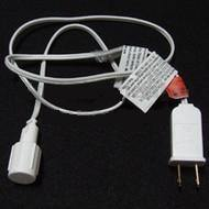 Power Cord for Commercial LED Strands, White Wire - Seasonal Source