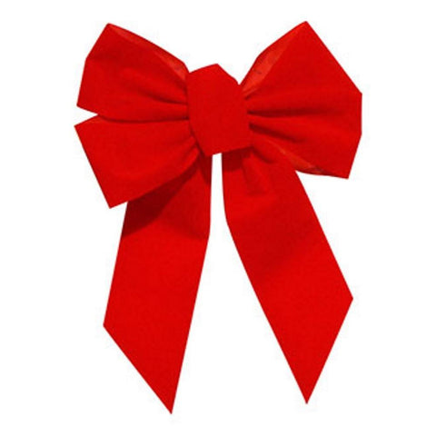 Small Red Holiday Bow use with Garland or 24 Inch Wreath - Seasonal Source