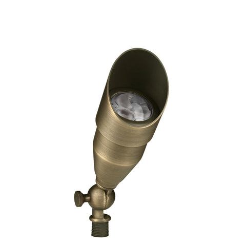 Corona Lighting - Corona Lighting - Antique Brass Bullet Light and 12V MR-16 35W MAX Bulb -  - Landscape Lighting  - Yard Outlet