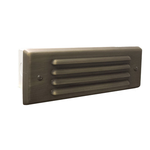 Corona Lighting - Corona Lighting - Brass 4 Louver Brick Light, Antique Bronze and 12V Bayonet 2 x 27W MAX Bulb, Custom Product -  - Landscape Lighting  - Yard Outlet