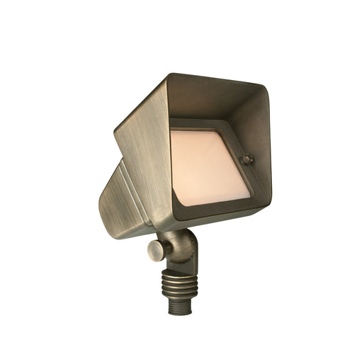 Corona Lighting - Corona Lighting - Brass Large Flood in Antique Bronze 12V T3 50W MAX Bulb -  - Landscape Lighting  - Yard Outlet