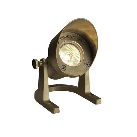 Corona Lighting - CL-308-BR - Shrouded Natural Brass Underwater Light - Corona Lighting