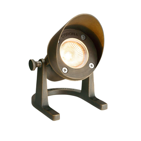 Corona Lighting - Corona Lighting - CL-308 Shrouded Brass Underwater and 12V MR-16 50W MAX Bulb - Antique Bronze - Landscape Lighting  - Yard Outlet - 2