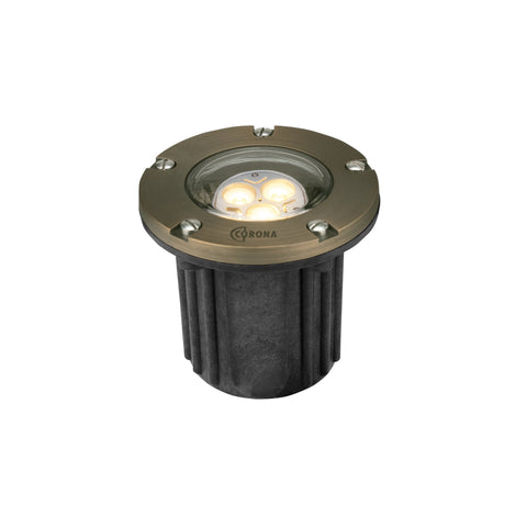 Corona Lighting - Corona Lighting - CL-316B Composite Well Light with Brass Faceplate and 12V MR-16 50W MAX Bulb - Antique Bronze - Landscape Lighting  - Yard Outlet - 1