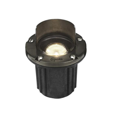 Corona Lighting - CL-317B-GM - Shrouded Composite Well Light with Gun Metal Faceplate - Corona Lighting
