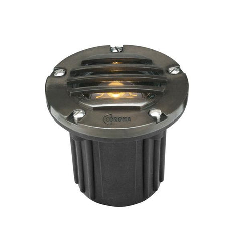 Corona Lighting - CL-318B-GM - Louvered Composite Well Light with Gun Metal Faceplate - Corona Lighting