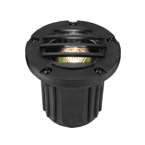 Corona Lighting - Corona Lighting - CL-339 Louvered Composite Well Light and 12V MR-16 50W MAX Bulb - Black - Landscape Lighting  - Yard Outlet - 1