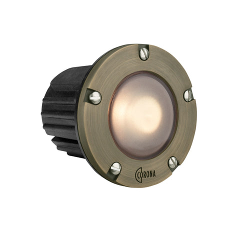 Corona Lighting - Corona Lighting - CL-346B Composite Step Light and 12V MR-16 50W MAX Bulb, Custom Product - Brass Faceplate - Landscape Lighting  - Yard Outlet - 1