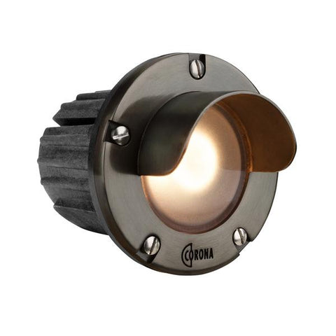 Corona Lighting - CL-347B-GM - Composite Gun Metal Shrouded Step Light - Corona Lighting