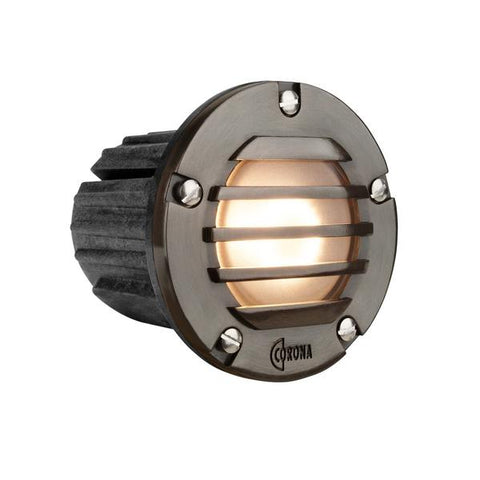 Corona Lighting - CL-348B-GM - Louvered Composite Gun Metal Step Light - Corona Lighting