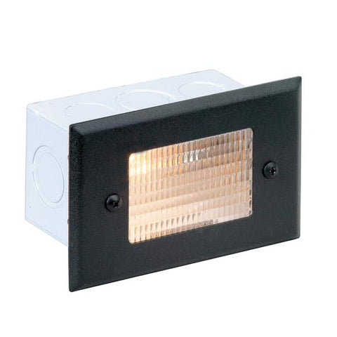 Corona Lighting - CL-350-SI - Steel Lensed Recessed Silver Plated Step Light - Corona Lighting