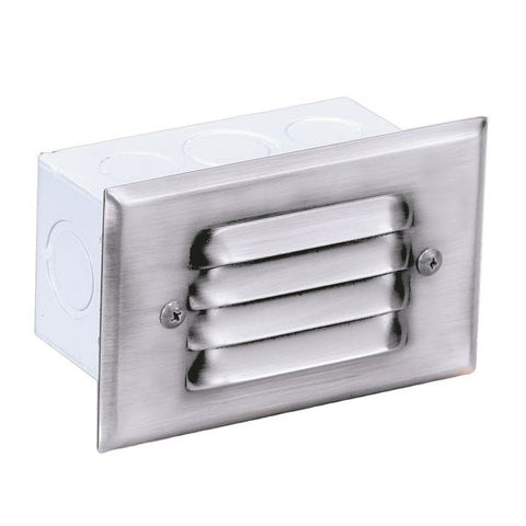 Corona Lighting - CL-351-WH - Steel 4 Louver White Step Light - Corona Lighting