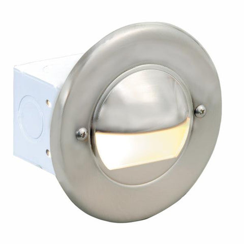 Corona Lighting - CL-358-PB - Steel Round Brass Plated Step Light - Corona Lighting