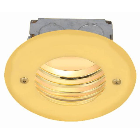 Corona Lighting - CL-359-PB - Polish Brass Steel Guard Step Light
