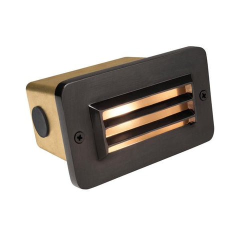 Corona Lighting - CL-365B-GM - Brass 3 Louver Gun Metal Step Light - Corona Lighting