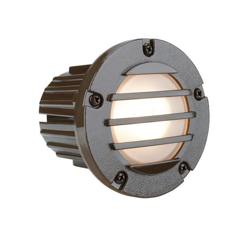 Corona Lighting - CL-377-BZ - Louvered Composite Bronze Step Light - Corona Lighting