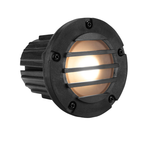 Corona Lighting - Corona Lighting - CL-377 Louvered Composite Step Light and 12V MR-16 50W MAX Bulb, Custom Product - Black - Landscape Lighting  - Yard Outlet - 2