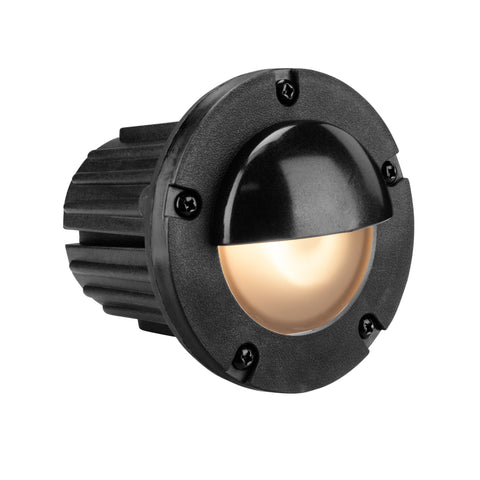 Corona Lighting - Corona Lighting - CL-378 Rounded Composite Step Light and 12V MR-16 50W MAX Bulb, Custom Product - Black - Landscape Lighting  - Yard Outlet - 2