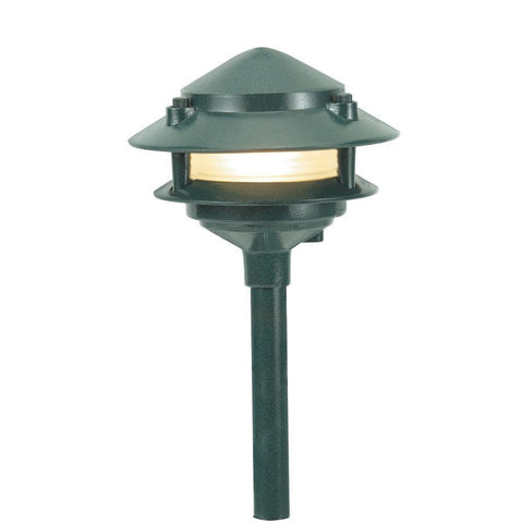 Corona Lighting - Corona Lighting - CL-602 Aluminum 2 Tier Pagoda and 12V T3/T4 50W MAX Bulb - Black - Landscape Lighting  - Yard Outlet
