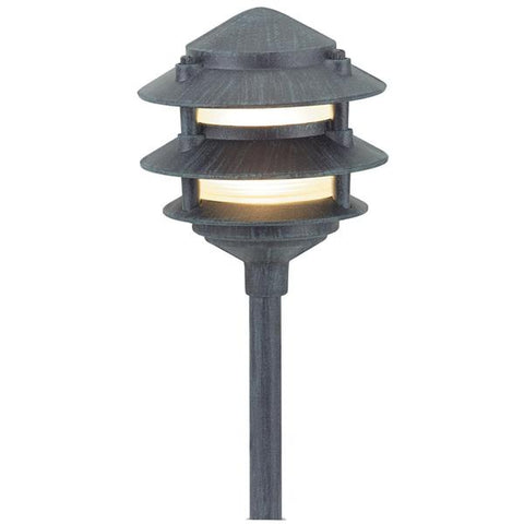 Corona Lighting - CL-603-VG - Verde Green Aluminum 3 Tier Pagoda - Corona Lighting
