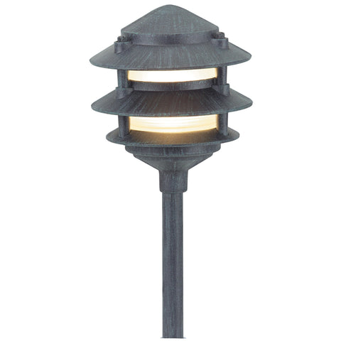 Corona Lighting - Corona Lighting - CL-603 Aluminum 3 Tier Pagoda and 12V T3/T4 50W MAX Bulb - Black - Landscape Lighting  - Yard Outlet