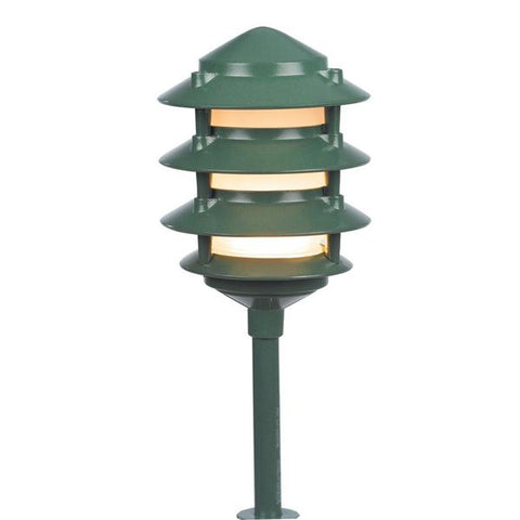 Corona Lighting - CL-604-GR - Green Aluminum 4 Tier Pagoda - Corona Lighting