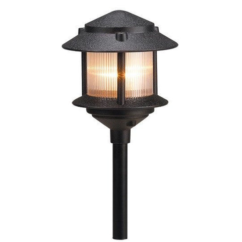 Corona Lighting - Corona Lighting - CL-605 Aluminum Pagoda Lantern and 12V Bayonet 27W MAX Bulb - Black - Landscape Lighting  - Yard Outlet