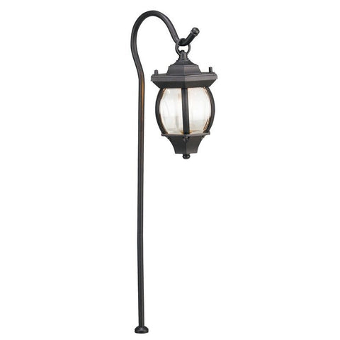 Corona Lighting - Corona Lighting - CL-637 Aluminum Lantern and 12V Bayonet 27W MAX Bulb - Black - Landscape Lighting  - Yard Outlet
