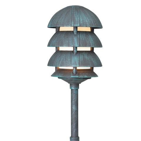 Corona Lighting - Corona Lighting - CL-644 Aluminum 4 Tier Pagoda and 12V T3/T4 50W MAX Bulb - Black - Landscape Lighting  - Yard Outlet