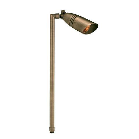 Corona Lighting - Corona Lighting - CL-752B Brass Single Head Path Light and 12V MR-16 50W MAX Bulb, Custom Product - Antique Bronze - Landscape Lighting  - Yard Outlet - 2