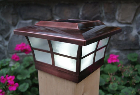 solar post caps 4x4 canada lowes landscape lighting classy copper plated prestige cap large