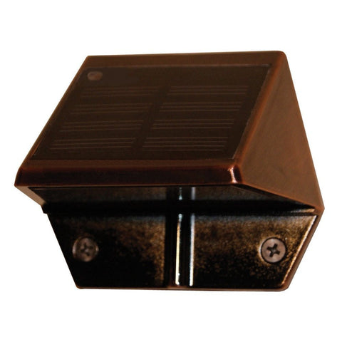 Classy Caps - Classy Caps - SL177 Copper Plated Solar Deck and Wall Light -  - Landscape Lighting  - Yard Outlet - 1