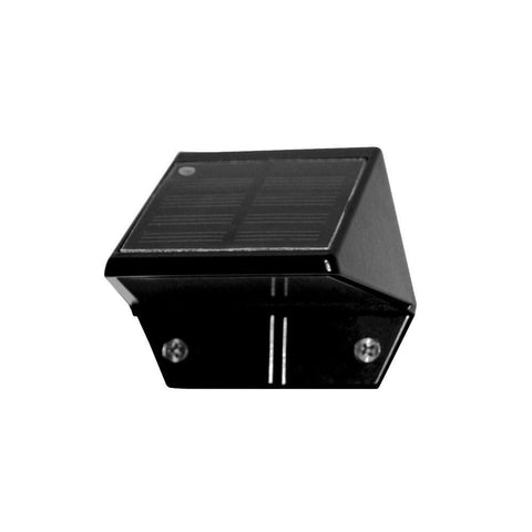 Classy Caps - Classy Caps - SL178 Black Aluminum Solar Deck and Wall Light -  - Landscape Lighting  - Yard Outlet - 1
