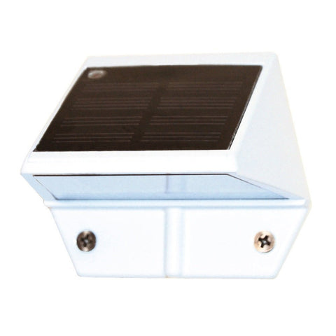 Classy Caps - Classy Caps - SL179 White Aluminum Solar Deck and Wall Light -  - Landscape Lighting  - Yard Outlet - 1