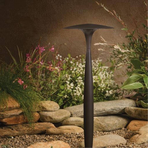 Kichler - Kichler, LED Broad Roof Path Light, Architectural Bronze, Updated LED Lamp Style -  - Landscape Lighting  - Yard Outlet