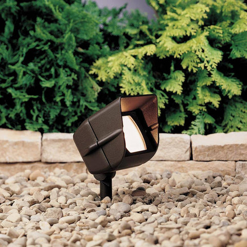 Kichler - Kichler, Miniature Hooded Adjustable Wide Flood Light -  - Landscape Lighting  - Yard Outlet