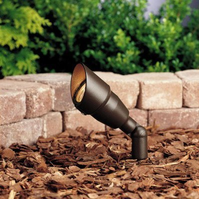 "Kichler - Kichler, One Light 12 Volt 2"" Mini Accent Light, No Lamp - Architectural Bronze - Landscape Lighting  - Yard Outlet - 1"
