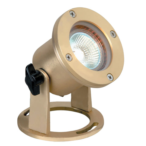 Corona Lighting - Corona Lighting - Natural Brass Underwater and 12V MR-16 50W MAX Bulb -  - Landscape Lighting  - Yard Outlet
