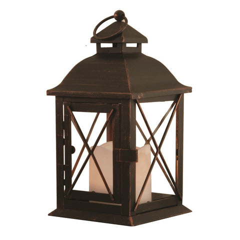 Smart Living Home and Garden - 84035-LC - Battery Powered, Aversa LED Candle Lantern with On/Off Timer - Smart Living Home and Garden