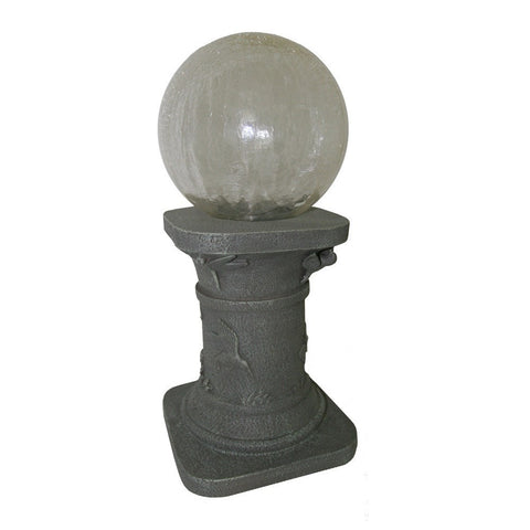 Smart Living Home and Garden - Smart Living Home and Garden, Solar Powered Chameleon Gazing Ball with Tall Pedestal -  - Landscape Lighting  - Yard Outlet