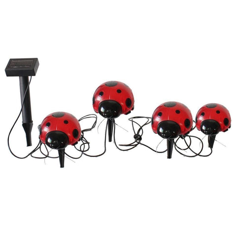Smart Living Home and Garden - 3656MRM4 - Solar Ladybug Accents 4-Piece Set - Smart Living Home and Garden