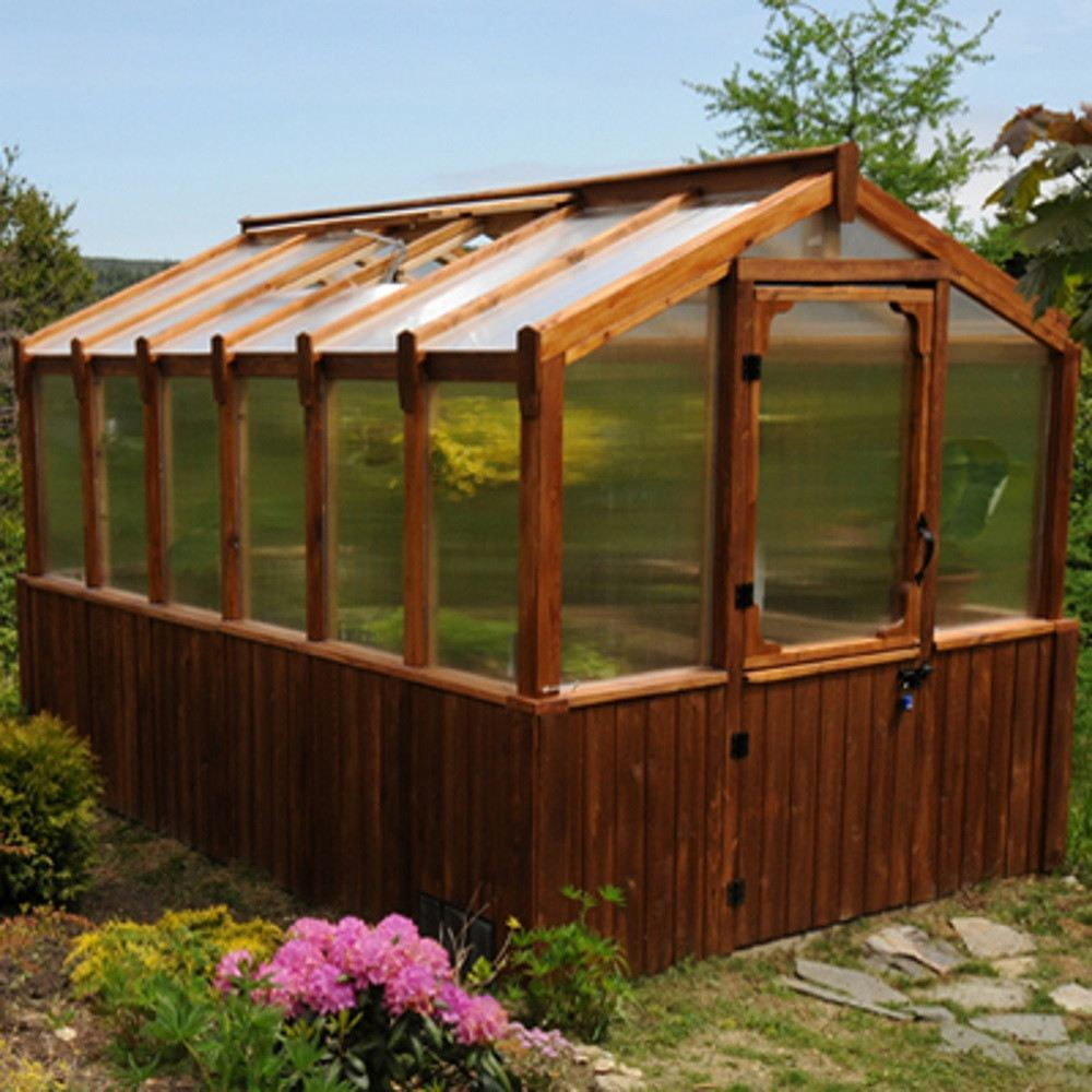 8x12 Cedar Greenhouse Includes Heat Functioning Roof