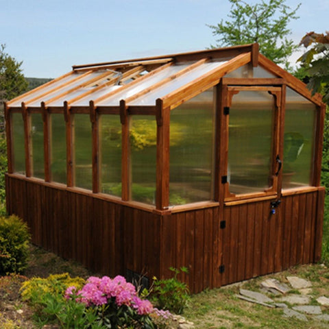Outdoor Living Today - GH812 - 8x12 Cedar Greenhouse - Includes Heat Functioning Roof Window Vents - Outdoor Living Today