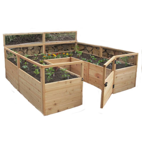 Outdoor Living Today - RB88 - 8 x 8 Raised Cedar Garden Bed – Yard ...