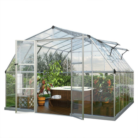 Palram - Americana 12 Foot x 12 Foot Hybrid Greenhouse - Default Title - Lawn and Garden  - Yard Outlet